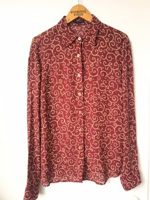 Sisley Vintage Bluse Boho Retro Paisley Rot Transparent Blogger