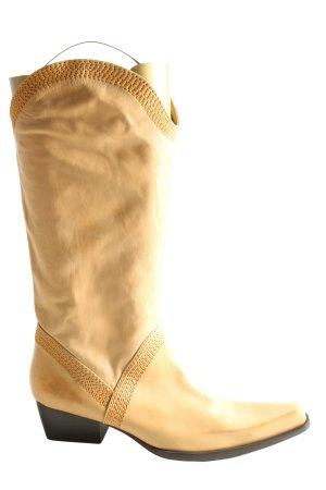 Sisley Botas estilo vaquero amarillo pálido look casual
