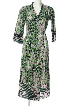 Sisley Vestido cruzado Mezcla de patrones look casual