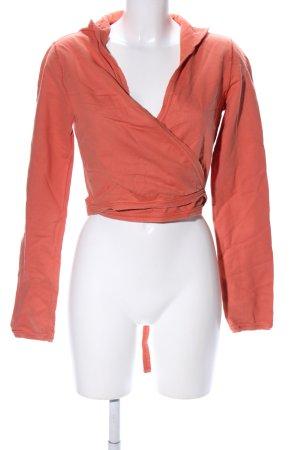 Sisley Camisa cruzada naranja claro look casual
