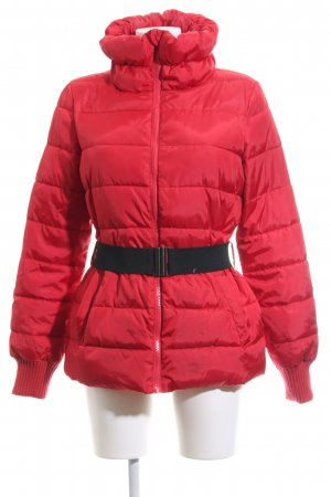 Sisley Winterjacke rot Steppmuster Casual-Look