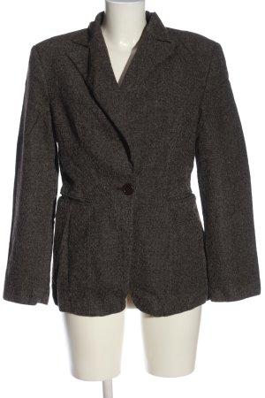 Sisley Woll-Blazer braun-wollweiß meliert Casual-Look