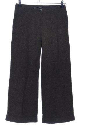 Sisley Pantalon en laine noir moucheté style décontracté