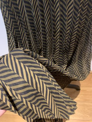 Sisley Plisowana spódnica czarny-brąz