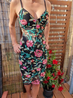 SISTAGLAM REMY ALL OVER EMBROIDERED CAMI BODYCON Kleid Dress Ibiza Abiball