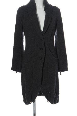 Siste's Manteau long gris clair moucheté style décontracté