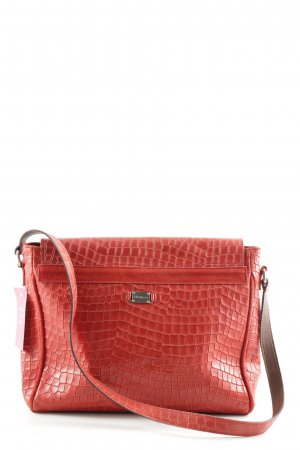 Siste's Schultertasche rot Animalmuster Casual-Look