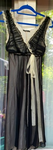 Siste's  -  schwarz-beige  Chiffon   Kleid