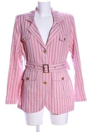 Sister Jane Long-Blazer pink-weiß Streifenmuster Casual-Look