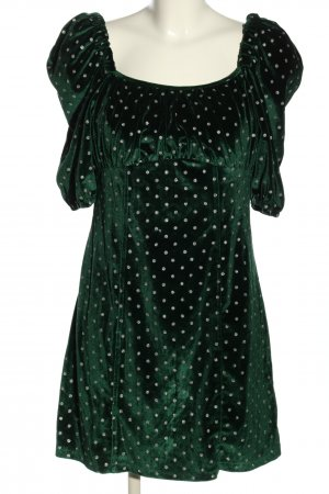 Sister Jane Minikleid grün-silberfarben Allover-Druck Elegant