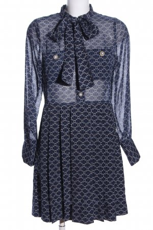 Sister Jane Minikleid blau-wollweiß grafisches Muster Casual-Look