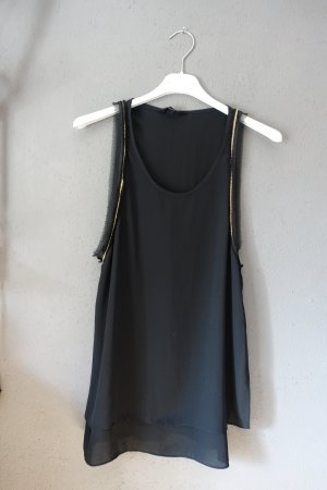 Sister Jane Top mit Metallketten, Kettendekor, schwarz, Tanktop, Blusentop, Bluse