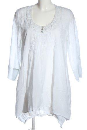 sisters Vestido de manga larga blanco look casual