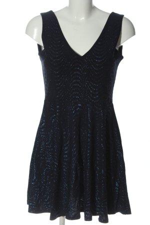 Sisters point A-Linien Kleid schwarz-blau Elegant