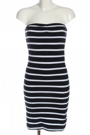 Sisters point Bandeau Dress black-white striped pattern casual look