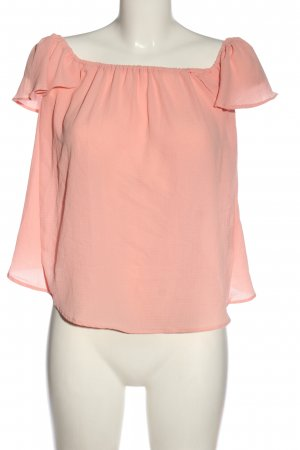Sisters point Blusa tipo Carmen rosa look casual