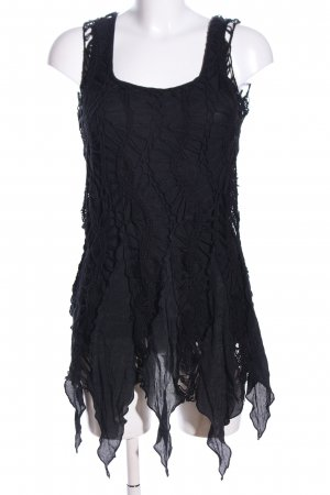 Sisters point Fringed Dress black extravagant style