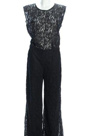 Sisters point Jumpsuit schwarz Blumenmuster Elegant