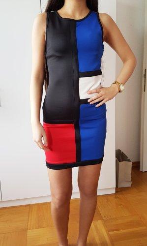 Sisters Point Kleid Blockfarben sexy kleid figurbetontes Cocktailkleid Party Kleid