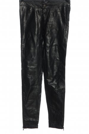 Sisters point Pantalon en simili noir style décontracté