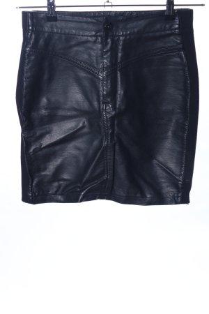 Sisters point Kunstlederrock schwarz Elegant