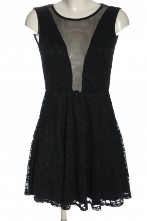 Sisters point Mini vestido negro elegante
