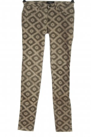 Sisters point Tube Jeans natural white-khaki allover print casual look