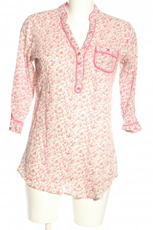 Sisters point Schlupf-Bluse wollweiß-pink Allover-Druck Casual-Look