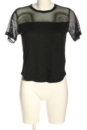 Sisters point T-shirt noir torsades style décontracté