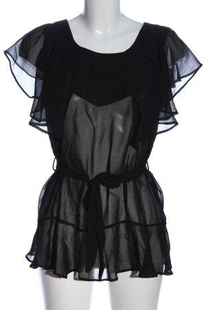 Sisters point Transparent Blouse black elegant
