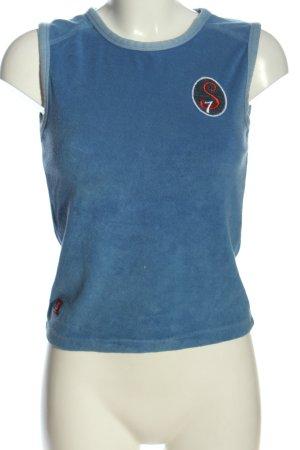 sisters Tanktop blau Motivdruck Casual-Look