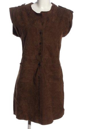 sita murt Robe en cuir brun style décontracté