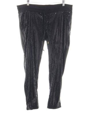 Siwy Pantalone a sigaretta nero effetto bagnato