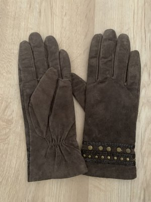 Six Gants en cuir multicolore