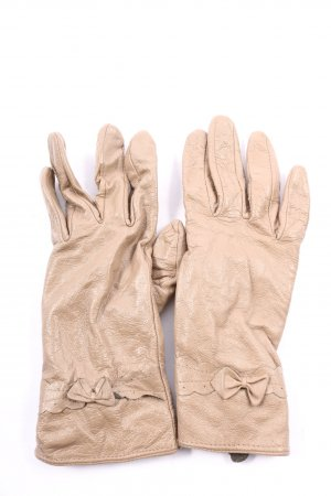 Six Leather Gloves nude casual look