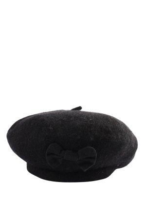 Six Cappello con pon pon nero stile casual