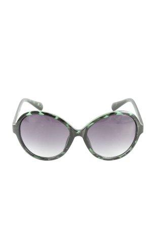 Six Okrągłe okulary przeciwsłoneczne czarny-turkusowy W stylu casual
