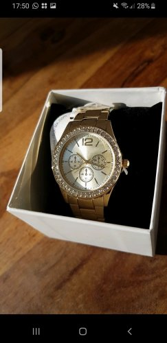 Six Watch With Metal Strap gold-colored