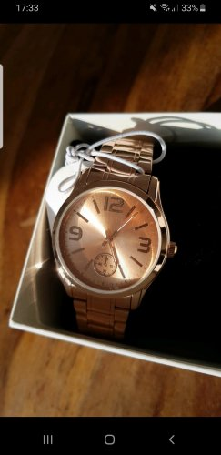 Six Watch With Metal Strap rose-gold-coloured