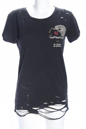 Sixth June T-Shirt Motivdruck Casual-Look