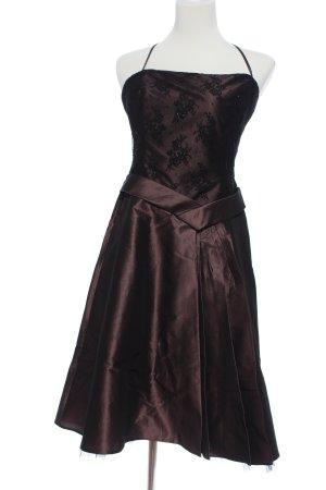 Sixth Sense Abendkleid braun Blumenmuster Elegant