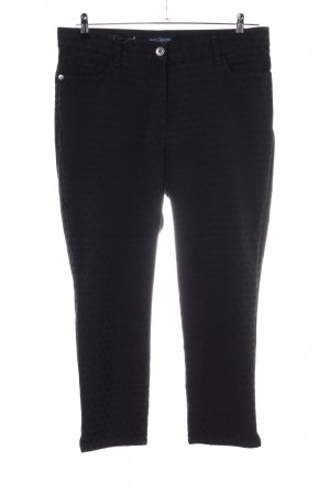 Sixth Sense Five-Pocket Trousers black allover print casual look