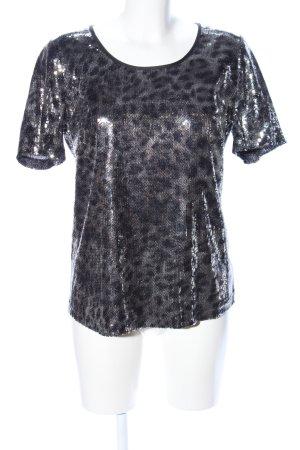 Sixth Sense Boothalsshirt zwart volledige print elegant