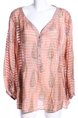 Sixty  Days Transparenz-Bluse nude-blau Allover-Druck Casual-Look