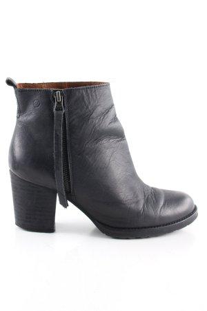 Sixtyseven Reißverschluss-Stiefeletten schwarz Casual-Look