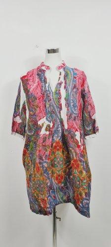 Siya Vestido tipo túnica multicolor