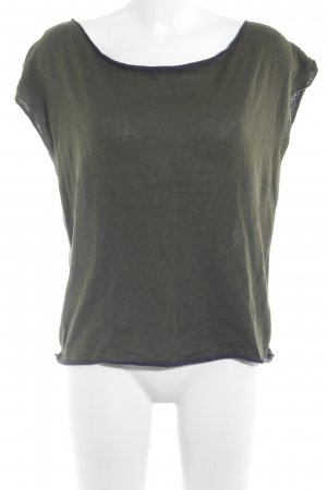 Siyu T-Shirt khaki-dark blue casual look