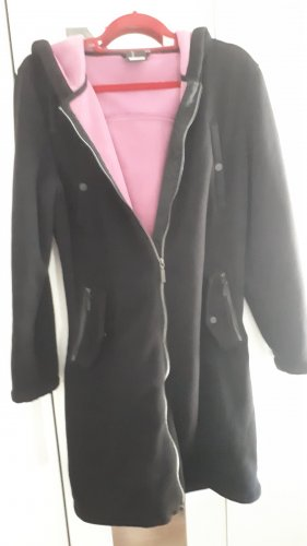 Fleece jas zwart-roze