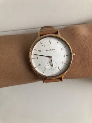 Skagen Zegarek analogowy jasnobrązowy-brąz
