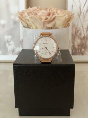 Skagen Armbanduhr Anita Uhr *SKW2405* in Rosegold mit Lederarmband in Nude, Neu!